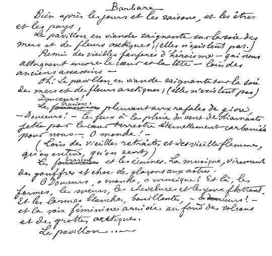 Rimbaud barbare petite anthologie rimbaldienne - Lecture analytique le dormeur du val arthur rimbaud ...
