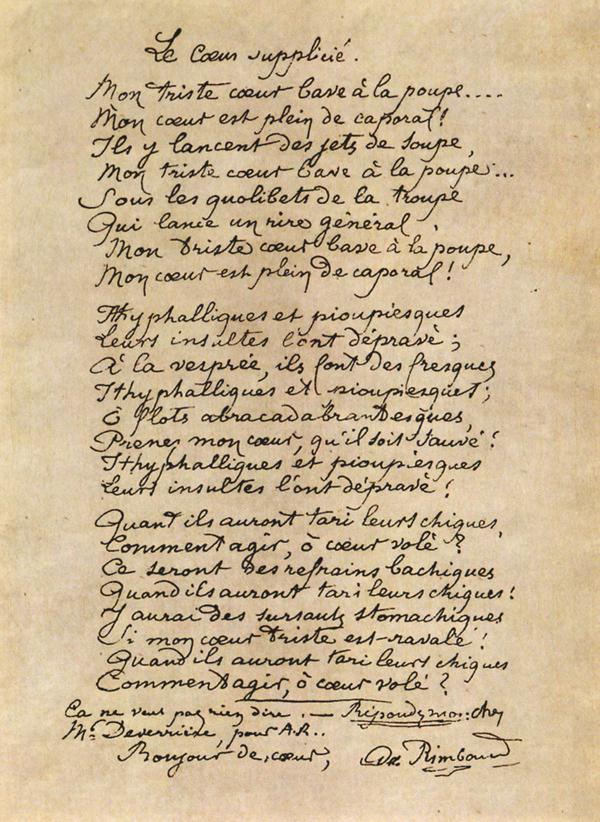 Arthur Rimbaud Lettres Du Voyant Panorama Critique Et